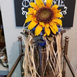 Candle Lantern with Sunflower